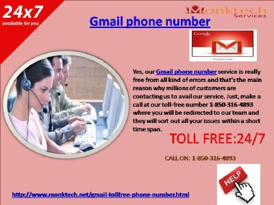 How to get an efficacious Gmail help by means of Gmail telephone number 1-850-316-4893?