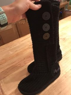 Girls knit boots size 12.5