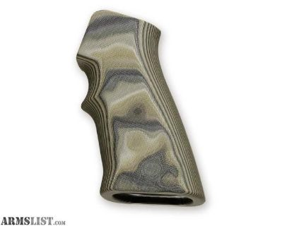 For Sale: Hogue AR15 G10 Grips Olive Drab Green Camo 15168