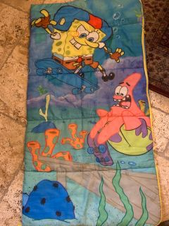 Kids Spongebob sleeping bag $5 ppu in pace only on tunnel road