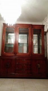 China Cabinet with 2 matching Curio Cabinets