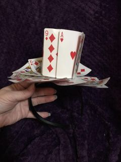 Handmade cards on headband. Queen of , playing cards, Ace of , Jack of costume idea