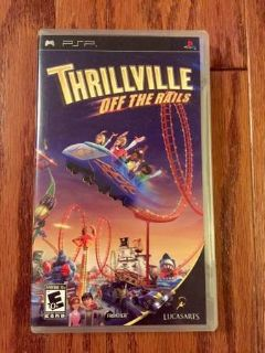 Thrillville Off The Rails PSP Game & Case