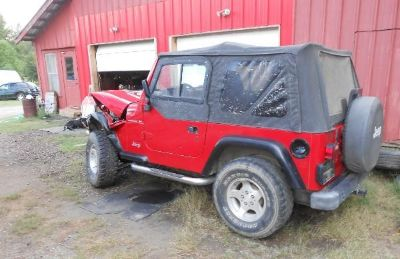 Purchase 1998 JEEP SPORT WRECKED ON LEFT FRONT FENDER -- ENGINE RUNS PARTS JEEP motorcycle in West Monroe, Louisiana, US, for US $3,500.00