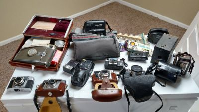 Old  camera collection  and accessories