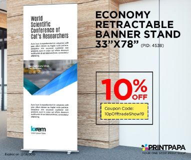Get Economy Retractable Banner Stand at 10% off