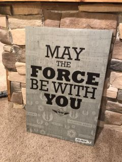 Large Star Wars Wall Canvas