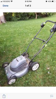 Lawn mower electric 3 in 1- 20 inches wide