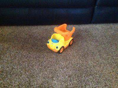 Talking and singing little people dump truck