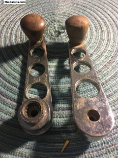 Custom window handle with wood knob