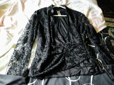 Fancy Lace Blouse with Collar NWT