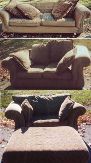 FREE COUCH, LOVESEAT AND CHAIR / OTTOMAN