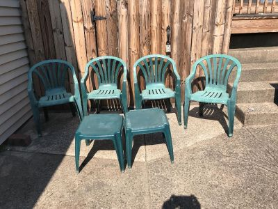 Chairs and tables. Need cleaned from storage.
