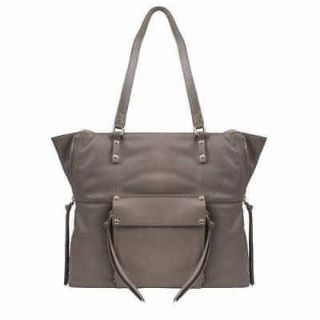 "TAUPE Kooba Genuine Leather Tote,11"" Strap Hand Bag Zipper Purse"