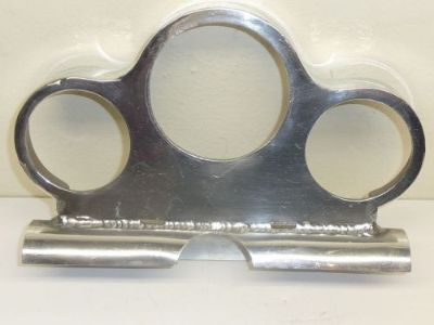 Purchase Vintage Racing Polished Aluminum 3 Hole Gauge Panel with Roll Bar Mount motorcycle in Livonia, Michigan, United States, for US $149.99