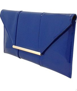 Faux Patent Leather Envelope Candy Clutch