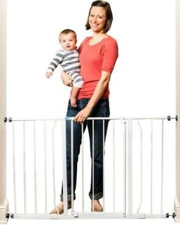 """Regalo 29"""" - 50"""" Wide Baby Gate With 2 Included Extensions"""