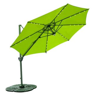 Patio Umbrella,lime green, 10-ft, cantilevered with separate 4-section heavy base