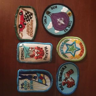 Lot of 5 vintage Tiger Cub activity patches