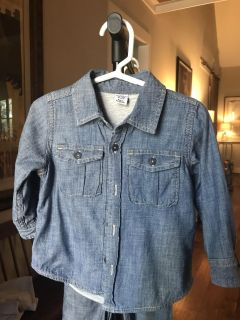 Baby Gap Jersey Lined Chambray button up shirt