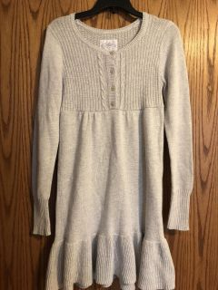 Girls size 14 Justice sweater dress - sparkles