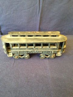 "Cast Iron Trolley Vintage /Street Car Toy ""Number 14"""