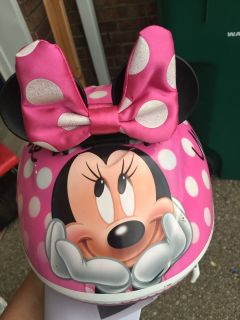 Toddler Minnie bike helmet