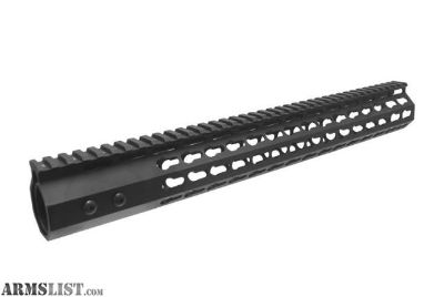 "For Sale: Slim Design 7 Sided Keymod Hand Guard 15"""