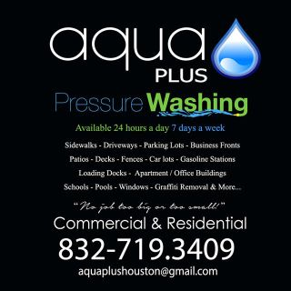 Need Pressure Washing We can help Call Us at 832.719.3409
