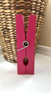 Extra Large Hot Pink Paper Clip Shelf Display Decor