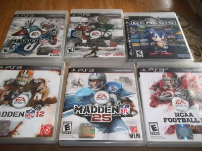 PS3 BASEBALL AND FOOTBALL WITH ONE ULTIMATE GENESIS TOTAL OF 8 GAMES