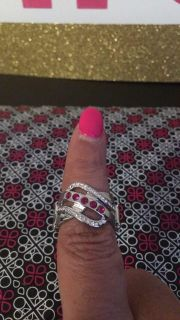 Flirting with sparkle pink ring