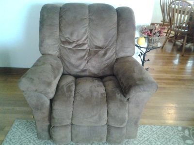 Lazy Boy micro suede brown chair, rocker/recliner