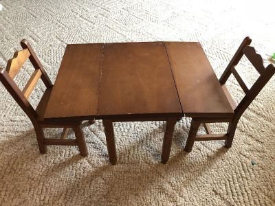 18in wood doll table fits American girl dolls