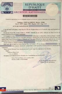 TRADUCTIONS CERTIFI ES DE CERTIFICATS DE NAISSANCE (24hr)