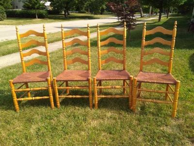 Four Ladder Back Shaker Chairs
