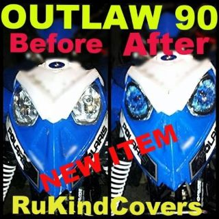 Sell POLARIS PREDATOR 90 Outlaw 90 HEADLIGHT COVER'S BLUE EYE'S NEW ITEM atv motorcycle in Medina, Ohio, United States, for US $18.00