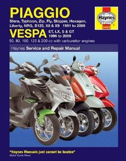 Purchase Haynes Service Manual Piaggio Sfera/Typhoon/Zip/Fly/Skipper/Hexagon motorcycle in Ashton, Illinois, US, for US $33.95