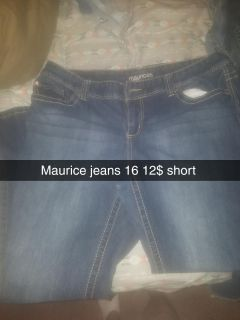 Maurices jeans 16 short