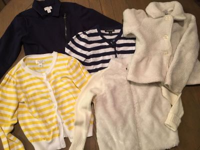 Cardigan and Coat Lot sizes 5-6 7-8 all fit like 6-7