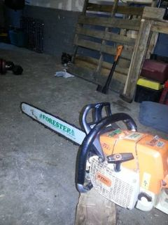 STIHL Ms440 Magnum forester chainsaw obo