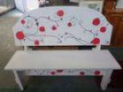 Hand-Made and Painted Bench.