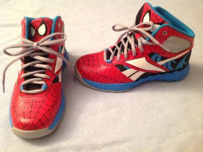 Cool Spider-Man gym shoes, Brand New, boys size 3,