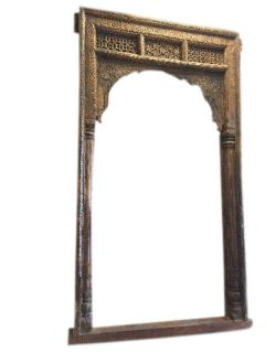 Antique Old World Architectural Design Shekhwati Teak Welcome Gate