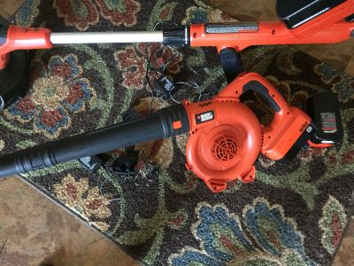 Black and Decker weed eater and blower like new with charger..$40 for the set $25 for weed eater $15 for blower