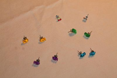 Five Pairs of Earrings from Justice