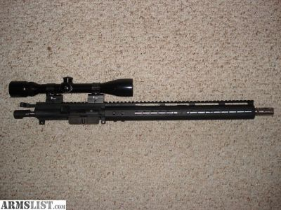 """For Sale: AR15 Upper with BCG & Handle, 16"""" Stainless Barrel & Flash hider, keymod rail, test fired & sighted in scope Bushnell 4X"""