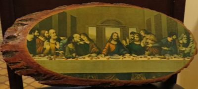 The Last Supper on wood
