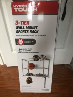 3-Tier Wall Mount Sports Rack or for Tools