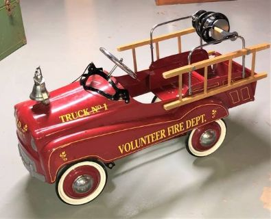 Vintage Gearbox Child's Fire Truck Pedal Car